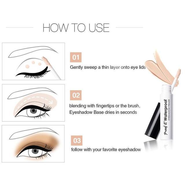Liquid Waterproof Eyeshadow Eye Primer Moisturizing Base Makeup Cream Eyeshadow Base Primer 5