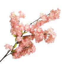 Künstliche Simulation Blume Natürliche Luft getrocknete Kirsche Blossom Bouquet Dekoration Hochzeit Party Wohnzimmer Vase Dekoration #10