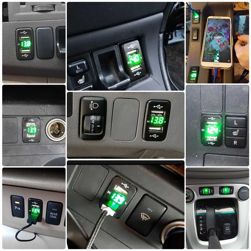 Fast Car ChargerรถXiaomiอุปกรณ์เสริมโทรศัพท์Dual Usb Charger Toyota Quick 4.2A Iphoneพอร์ตSocket 12Vแรงดันไฟฟ้าCorolla hilux