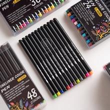 Andstal 60 Colors Fine Line Drawing Pen Set 0.4mm Fineliner Marker Liner for Notebook Cartoon Paint Planner School colored pens