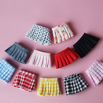 Ob11 doll clothes small skirt pleated skirt uniform skirt skirt 1 / 12bjd doll clothes beautiful knot pig GSC doll wild skirt фото