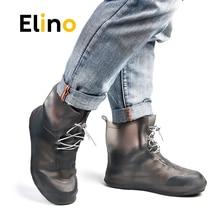 Elino PVC Waterproof Shoe Cover Travel Rain Overshoes Reusable Shoe Protection Anti-slip Thicken Cycle Rain Boots for Men Women