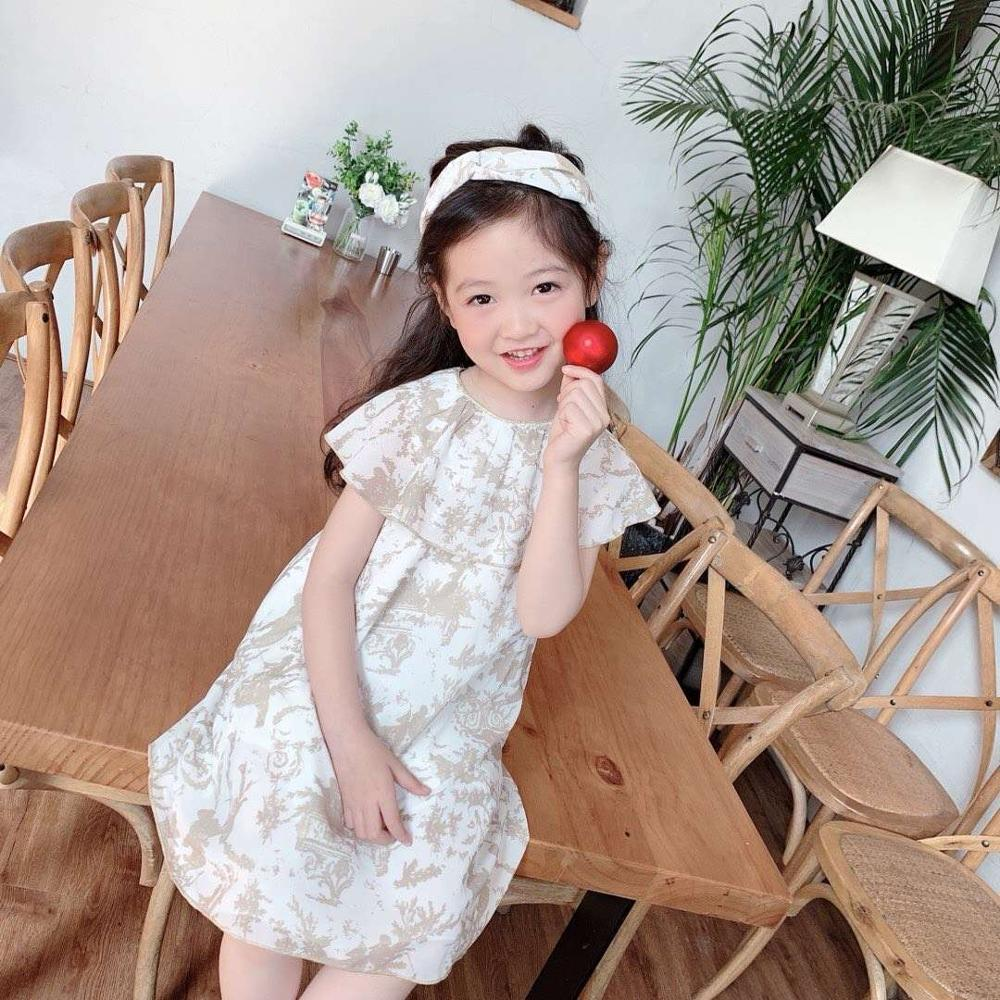 2020 New arrival Ruffles Sleeve Girls dress Princess Party girls clothing Petticoat Brand 90-160cm 3 4 6 8 10 12