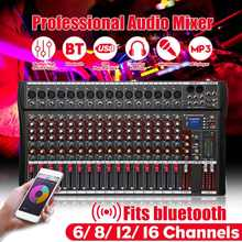 Nieuwe 6/8/12/16 Kanalen Studio Audio Mixer bluetooth USB Digitale DJ Sound Mixing Console 48v Phantom Powers Monitor Versterker(China)