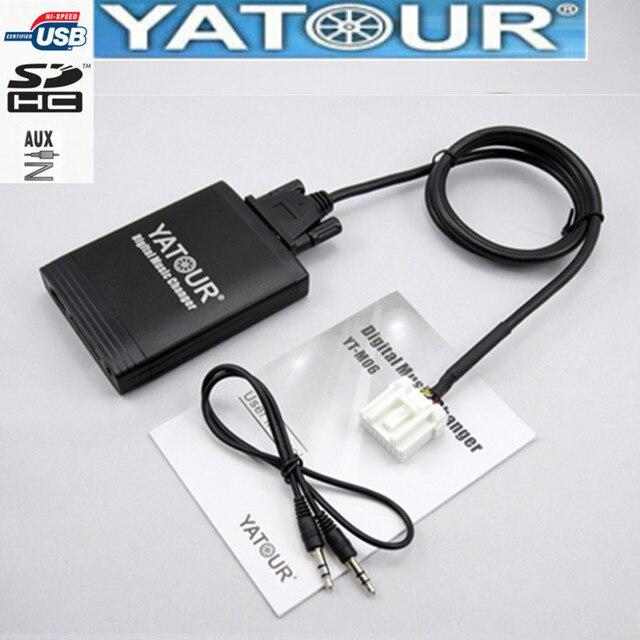 Yatour マツダ 2 3 6 CX7 RX8 mpv 車 Mp3 プレーヤー usb アダプタオーディオ MP3 aux bluetooth インターフェースのデジタル cd チェンジャー Yt m06