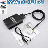 Yatour for Mazda 2 3 6 CX7 RX8 MPV Car Mp3 Player USB Adapter Audio MP3 AUX Bluetooth interface Digital CD Changer Yt-m06