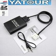 Yazour adaptador para mazda 2 3 6 cx7 rx8 mpv, reprodutor de mp3 com usb, áudio mp3, bluetooth e interface digital cd carregador Yt m06