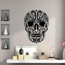 Creative Design Art Skulls Wall Sticker Vinyl Home Decor Tattoo Shop Interior Halloween Decals Removable Murals Wallpaper 3807