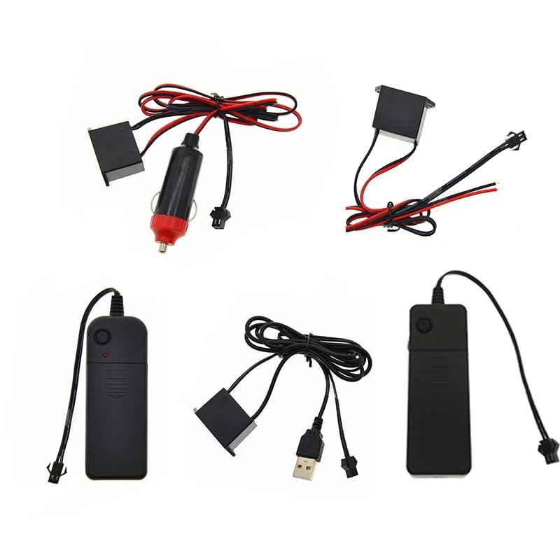 El Wire Controller Inverter Drive Controller For 1-5M Neon Light Strip Rope 12V/5V/3V Transformer Adapters