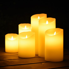 Flameless Flickering Electrical Paraffin Wax LED Candle For Wedding Party Home Christmas Decoration Party Supplies Night Light