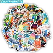 50 Pcs Outdoor Surfen Stickers Zomer Sport Tropische Strand Surfen Waterdichte Stickers Om Diy Surfplank Auto Skateboard Sticker