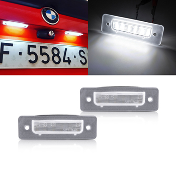 Fits For BMW E30 E12 E28 E24 E23 E26 Z1 3 5 6 7-Series White SMD Canbus Led License Plate Lights Auto Tail Lamps image