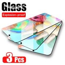 3 peças de Vidro Temperado para Samsung Galaxy S20FE S10 Note10 Lite A01 A21S A41 A51 A71 A42 A10 A20E A30 A50 Vidro Protetor De Tela