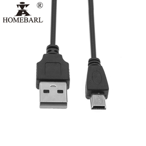 HOMEBARL Data Sync Mini USB 5 Pins Adapter Charger V3 Cable For MP3 MP4 MP5 Player Camera Radio Transfer Charging Line Cables(China)