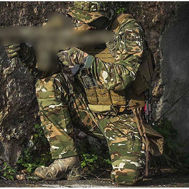Mens Camouflage Cargo Pants Elastic Multiple Pocket Military Male Trousers Outdoor Sport Pants Plus Size Tactical Pants Men 2