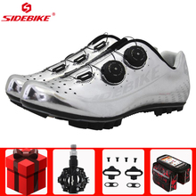 цены SIDEBIKE Cycling Shoes sapatilha ciclismo mtb New Carbon Bike Shoes Auto-lock Ultralight Mountain Bike Athletic Riding Shoes