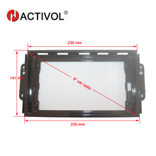 HACTIVOL 2 Din Car Radio face plate Frame for Chery Tiggo 3 2016 Car DVD GPS Navi Player panel dash mount kit car accessories hactivol 2 din car radio face plate frame for chery fulwin 2 2013 2016 car dvd gps navi player panel dash mount kit car product