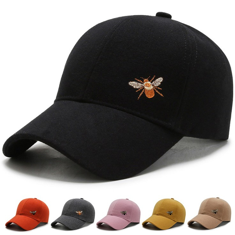 Unisex Bee Embroidery Work Cap Casual Outdoor Baseball Caps For Men Hats Women Snapback Caps For Adult Sun Hat Gorras Wholesale