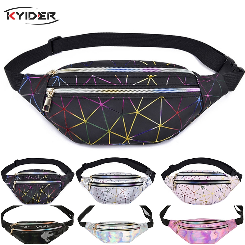 KYIDER Fashion Banana Shaped Women's Pocket High Quality PU Colorful Bags Waterproof Beach Bag Hip Pouch