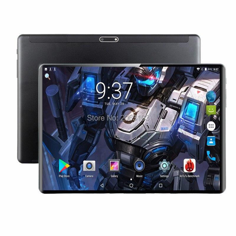 Super Gehärtetem 2.5D Glas 4G FDD LTE 10 zoll tablet pc Octa Core 6GB RAM 128GB ROM 1920*1200 IPS Bildschirm WIFI Android 9.0 GPS