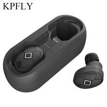 Auricolari Bluetooth cuffie sportive auricolari con cuffie scatola di ricarica 5.0V Wireless TWS con doppio microfono per IPhone 7 Xr 8