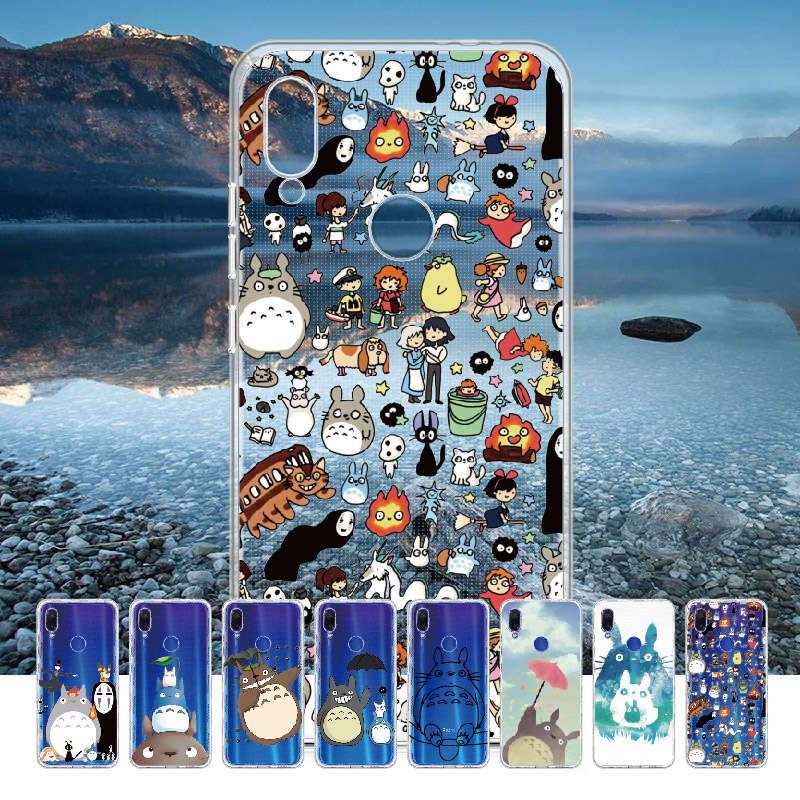 Totoro Spirited Away Ghibli Kaonashi For <font><b>Xiaomi</b></font> Mi <font><b>Redmi</b></font> <font><b>Note</b></font> 5 6 7 8 9 10 lite <font><b>Pro</b></font> Plus Soft TPU Slim Protective Clear Case image