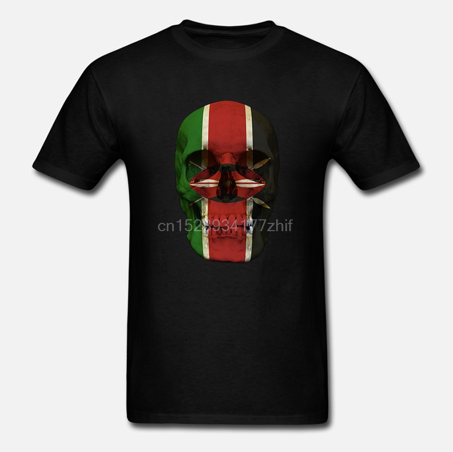 Kenya flag Tshirt T-shirt Tee top city map spears freedom peace harambee textile