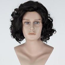 HAIRJOY Synthetic Hair Jon Snow Cosplay Wigs Men Women Middle Part  Heat Resistant Fiber Curly Wig