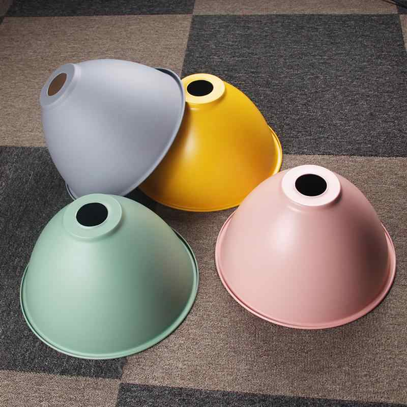 1pc 천장 램프 전등 갓 Macarons 색상 크리 에이 티브 싱글 헤드 레스토랑 홈 오피스 (램프 직경 30cm 제외)