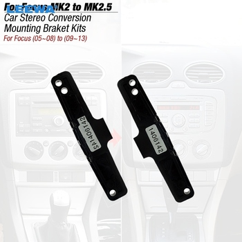 LEEWA 1pair Car Stereo Conversion Mounting Bracket Kits For Ford Focus MK2(05~08) Into Focus MK2.5(09~13) #CA3136 image