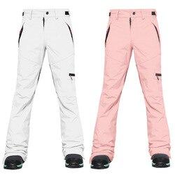 Женские зимние уличные лыжные штаны водонепроницаемые ветрозащитные теплые дышащие брюки для альпинизма женские брюки для сноуборда