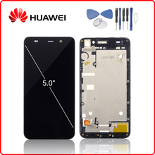 цена на Original For HUAWEI Honor 4A LCD Display Touch Screen Digitizer For Huawei Y6 Display with Frame Replacement SCL-L01 SCL-L21 L04
