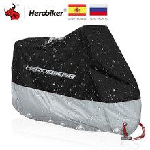 HEROBIKER אופנוע כיסוי חיצוני Uv מגן סקוטר כיסוי אופני עמיד למים Dustproof Moto גשם כיסוי מנעול פנימי חורים עיצוב