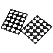 10 adet 18650 pil 4x5 hücre Spacer yayılan kabuk paketi plastik isı tutucu siyah 8*10*0.8cm