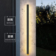 Lámpara LED de pared para exteriores, luz impermeable IP65 larga de aluminio para jardín, villa, porche, candelabro de 110V y 220V