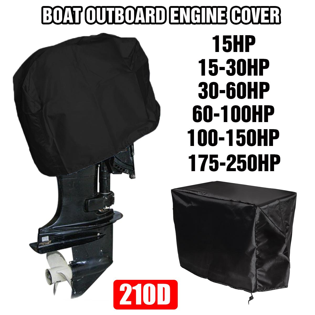 210D Oxford Boat 15-250HP Motor Cover Outboard Engine Protector Covers Waterproof 15 30 60 100 150 170 250 PH Motor Heavy-Duty