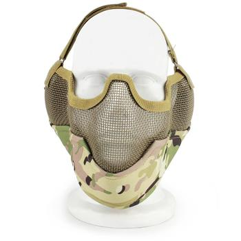 V2 Skull Strike Steel Mesh Half Face Paintball Mask Ear Protection Gear CS Wargame Military Army Hunting Airsoft Tactical Masks 1000d nylon high quality military tactical mask airsoft shooting mesh mask with ear protection paintball masks for hunting cs