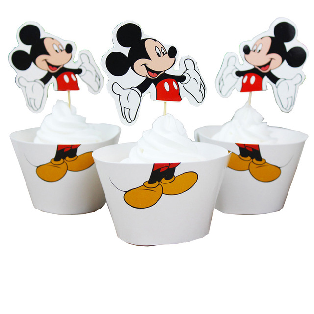 24-pcs-lot-Mickey-mouse-Wrapper-Mermaid-Minnie-mouse-cake-flag-Cup-cake-Muffin-Paper-Wrapper.jpg_640x640