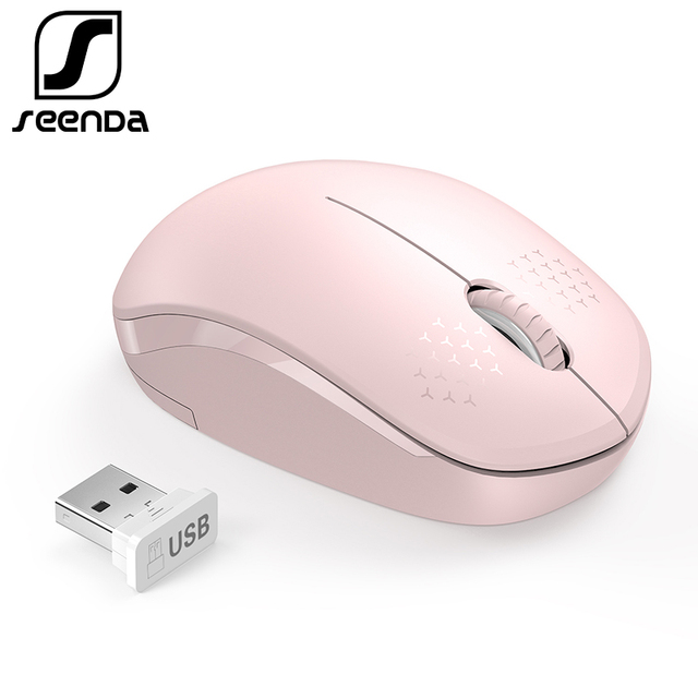 SeenDa Noiseless Mouse Wireless 2.4G Silent Buttons Ergonomic Mute Mice for Computer Laptop Mouse for Desktop Notebook PC Mause