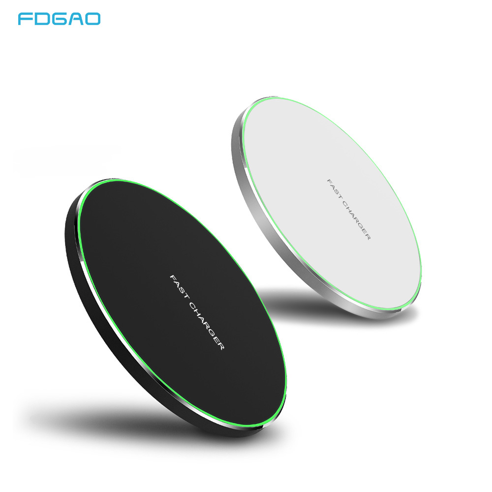 15W Quick Qi Wireless Charger For Iphone Xs Max/XR/X/Huawei Mate20 Pro For Samsung S9 S10 Type C Fast 10W Wireless Charging Pad