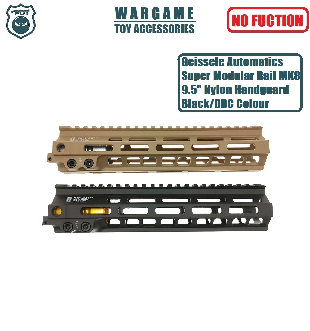 "9.5"" Geissele Automatics Super Modular Rail MK8 M-Lok Handguard For Toy Water Gel Ball Blaster Airsoft AEG GBB"