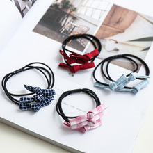 New Fashion 1pcs Women Rubber Bands Tiara Bow Hair Band Rope Scrunchie Ponytail Holder Gum for Accessories Elastic Hot Sale