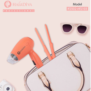 Hair Straightener Dual Voltage Blow Dryer Secador De Cabelo Hair Dryer Hot and Cold Dryer Hair Automatic Travel Kit