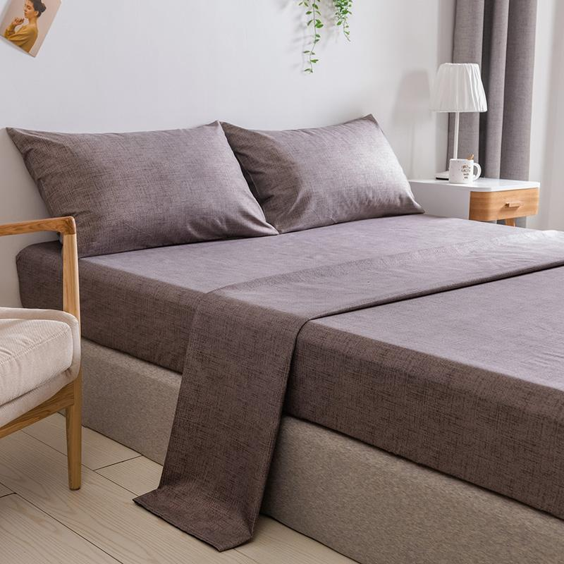30 Bed Sheet Gray Color Plain Dyed Top Sheet for Double Bed sabanas de cama Twin/Full/Queen/King Size Fitted Sheets