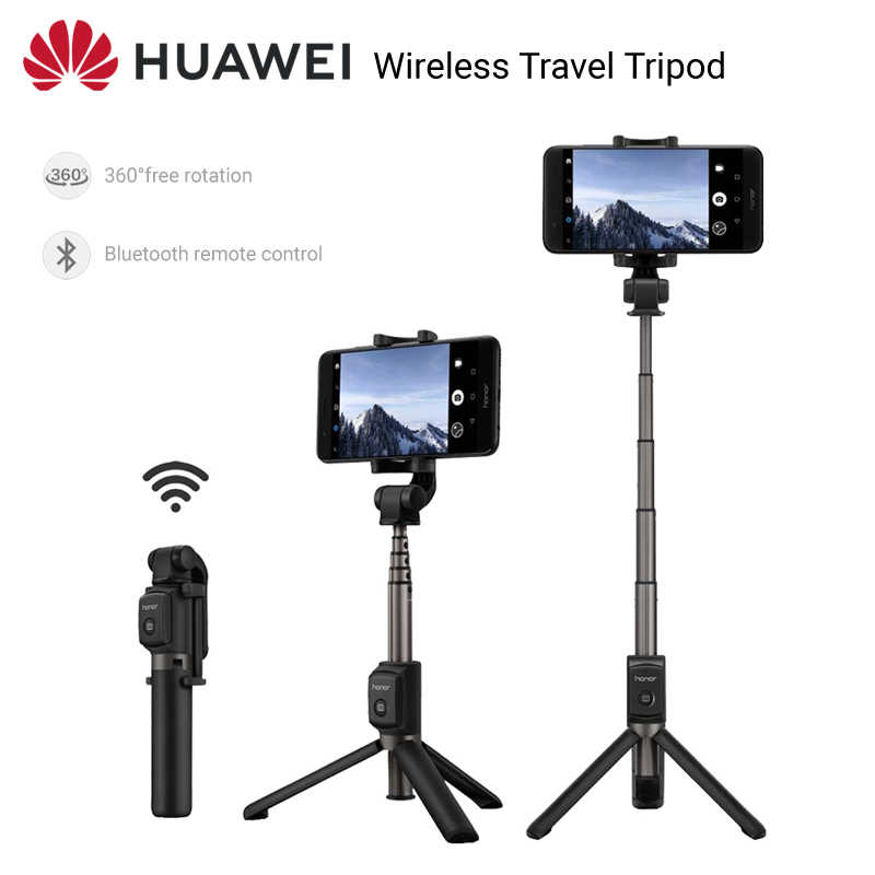Huawei Selfie Stick Tripod Portable Bluetooth3.0 Monopod untuk IOS Android Huawei Ponsel 640 Mm 163G