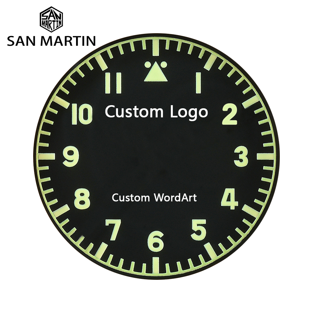 San Martin Watch Customization Service Mark/Motto/Anniversaries/Word Art/Birthday Etc Case Back Laser
