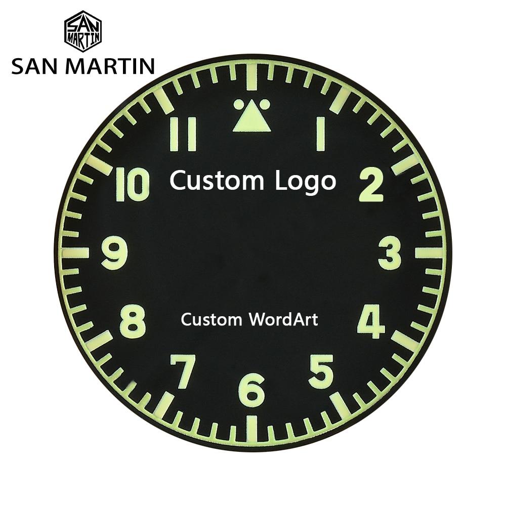 San Martin Watch Customization Service Mark/Motto/Anniversaries/Word Art/Birthday Etc Case Back Laser
