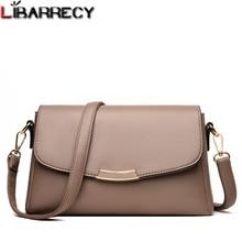 Flap-Bag Genuine-Leather Messenger-Bags Designer Women Ladies Luxury Solid Bolsa-Feminina