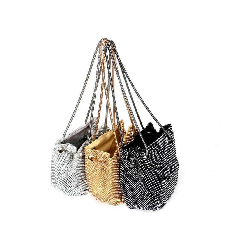 GLOIG Vrouwen diamanten dag clutch zachte rhinestones cover avondtassen wedding bridal mini purse voor party diner case