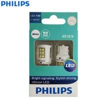 Philips ultinon led t20 w21w 7440 6000 k branco fresco led sinal de carro lâmpada parar & luz da cauda reverso bulbo 11065ulwx2 (pacote gêmeo)